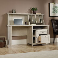 MB Home Lake Wood Chalked Chestnut Computer Desk with Hutch