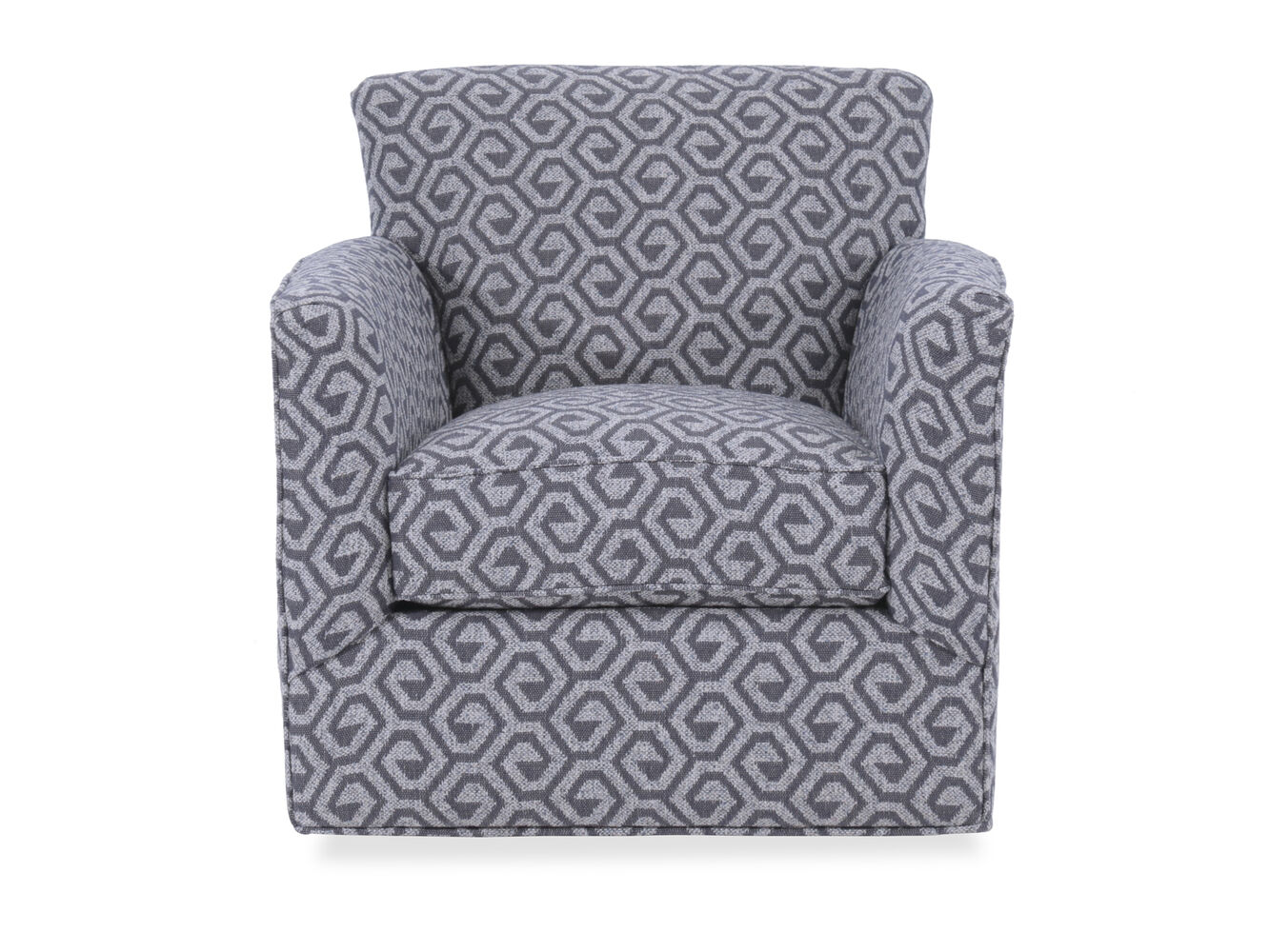 Images Geometric Patterned Contemporary 34 Swivel Chair In Gray