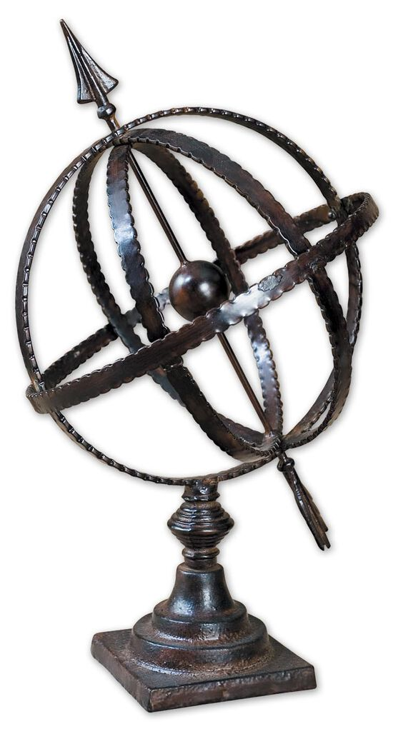 Orbital Arrow Globein Antique Brown
