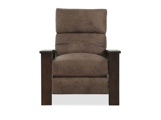 "Hi-Leg Leather 33"" Recliner in Brown"