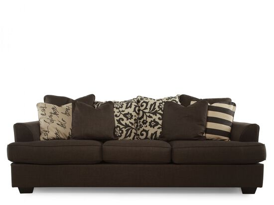 "Low-Profile Casual 96"" Sofa in Charcoal"