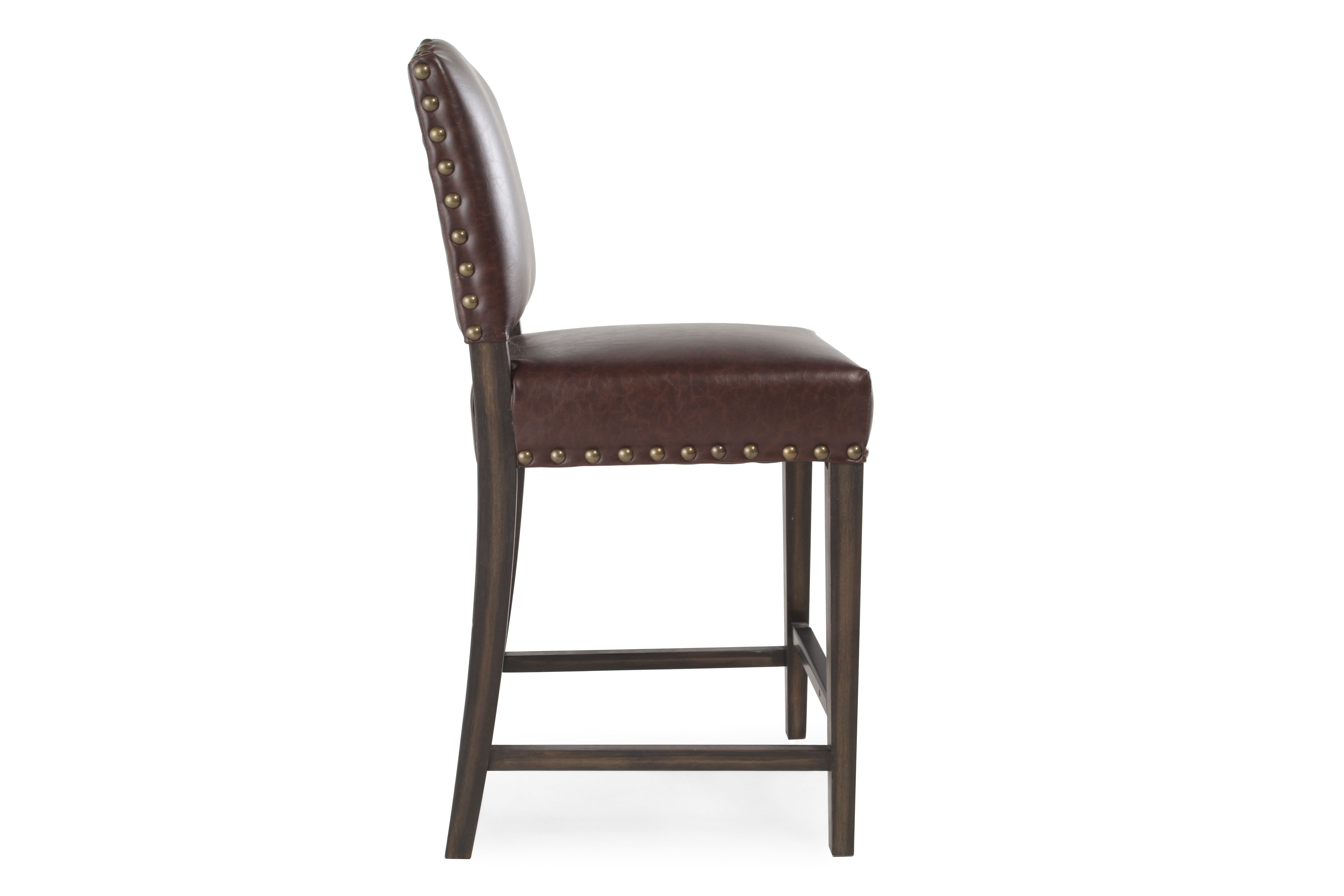 Boulevard Brown Leather Counter Stool  sc 1 st  Mathis Brothers & Boulevard Brown Leather Counter Stool   Mathis Brothers Furniture islam-shia.org