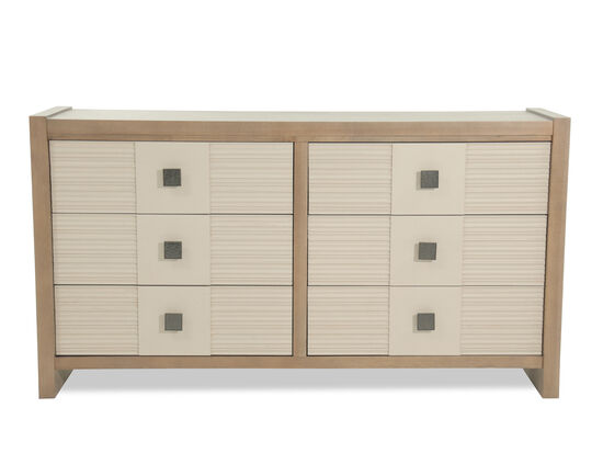 "37"" Contemporary Six-Drawer Dresser in Morning Light"