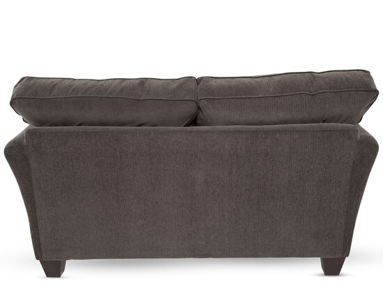"Contemporary 64"" Loveseat in Brown"