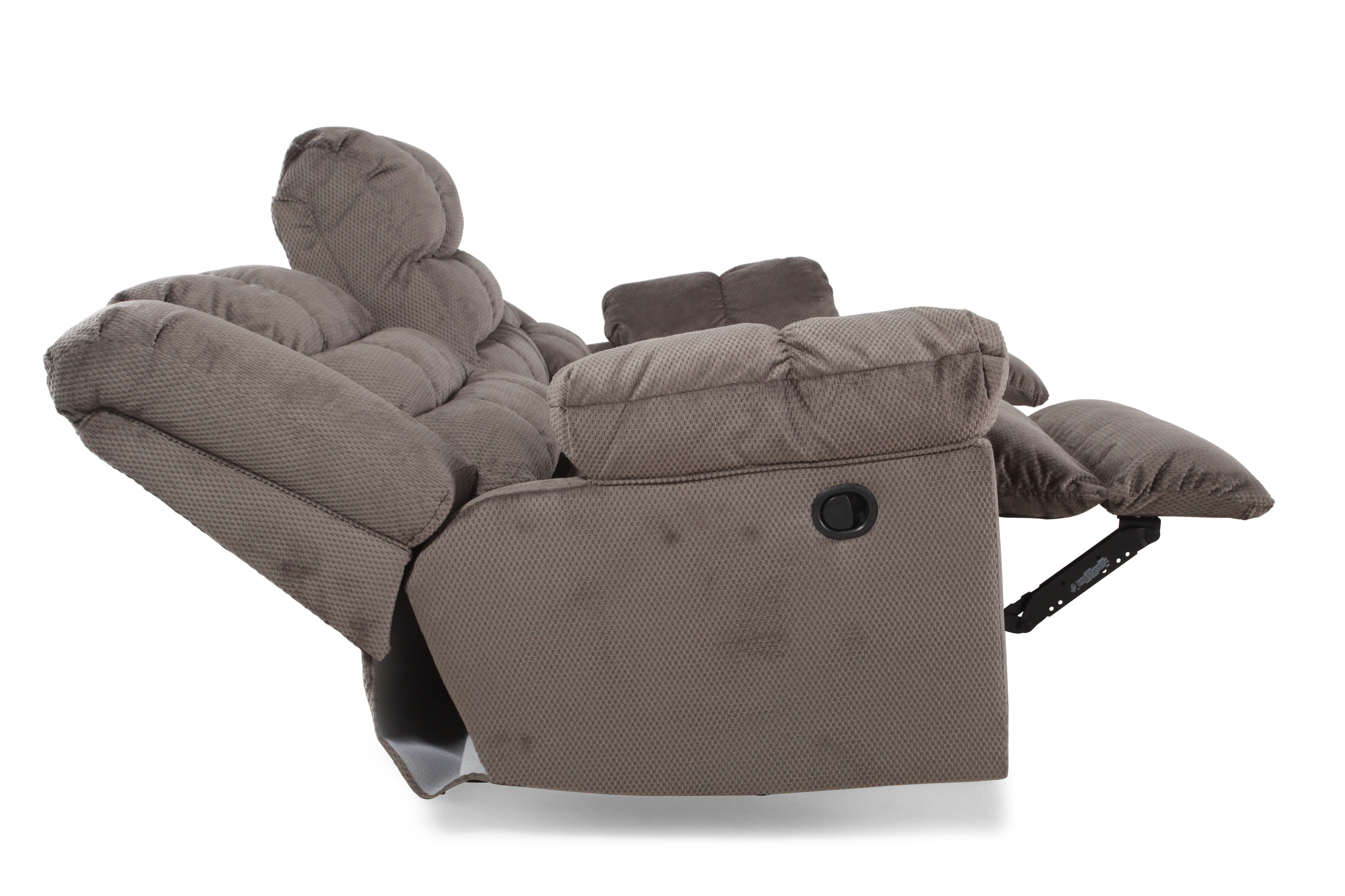 Ashley Mort Charcoal Reclining ...  sc 1 st  Mathis Brothers & Ashley Mort Charcoal Reclining Sofa | Mathis Brothers Furniture islam-shia.org