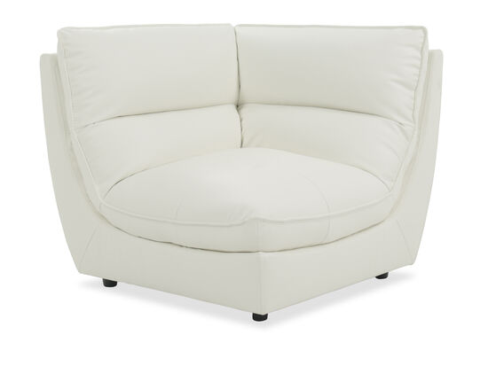 "Contemporary 43"" Corner Chair in White"