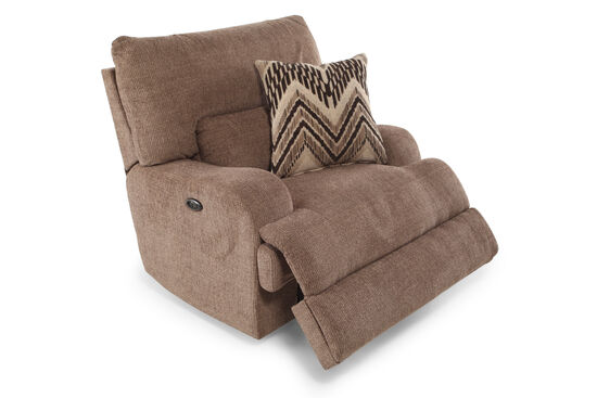 "Traditional 48"" Power Recliner in Brown"
