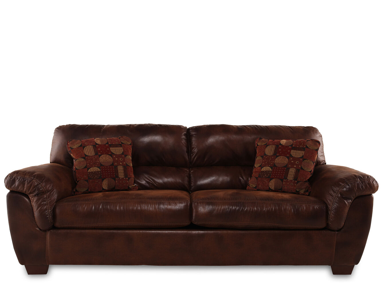 Casual 94 sofa in brown mathis brothers furniture for Casual couch