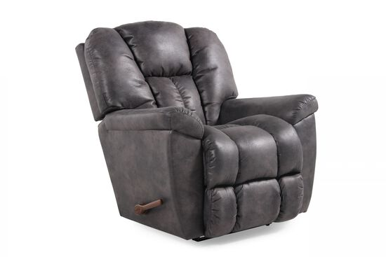 "Contemporary 19"" Rocker Recliner in Slate"