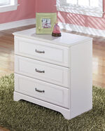 Three-Drawer Casual Storage in White