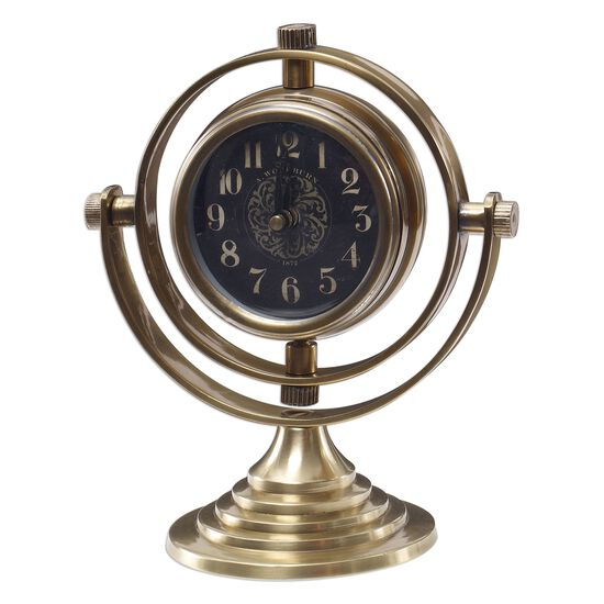 Swiveling Table Clock in Classy Black