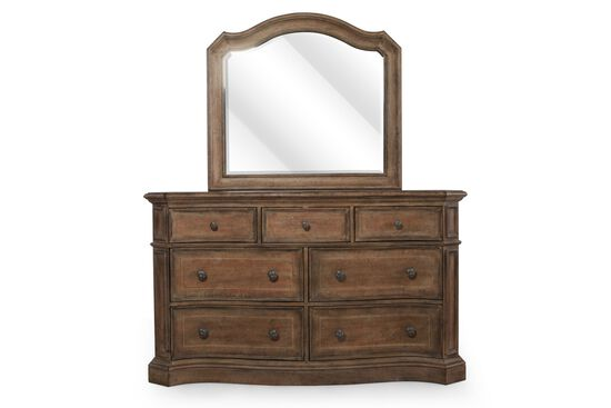 Two-Piece Traditional Dresser and Mirror in Sunshine