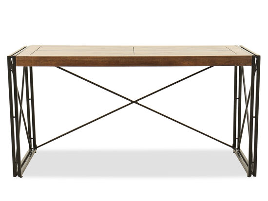 "60"" Casual X-Base Writing Desk in Black"