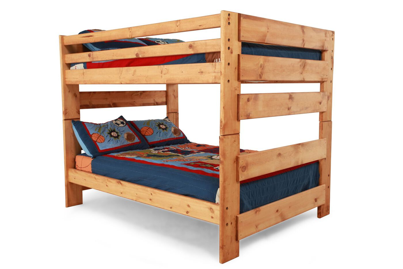 traditional youth full over full bunk bed in light. Black Bedroom Furniture Sets. Home Design Ideas