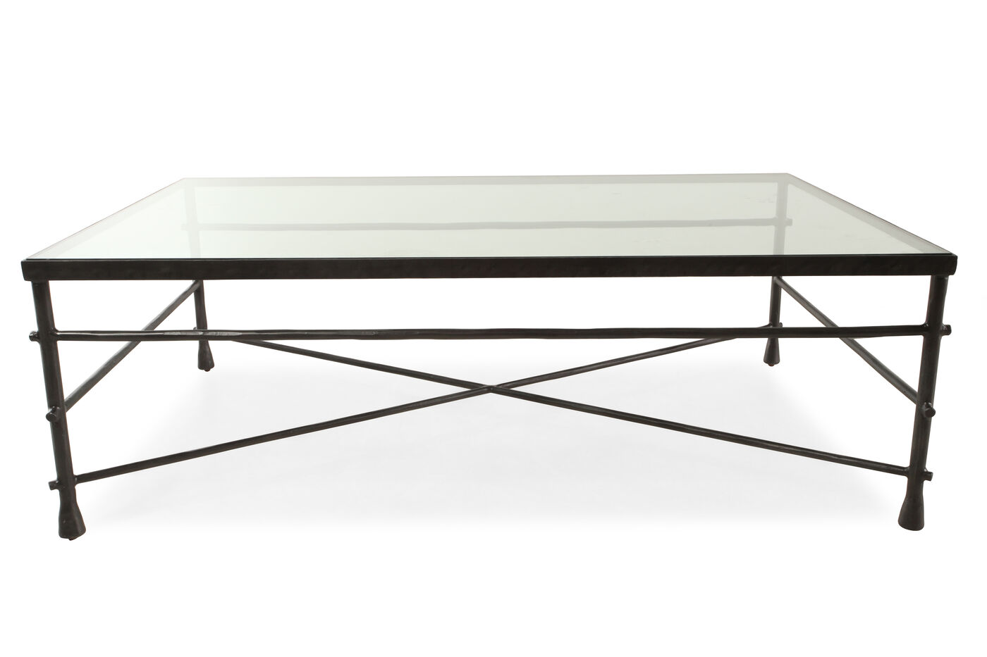 Rectangular Transitional Coffee Table In Gunmetal Gray Mathis  ~ Transitional Sofa Tables