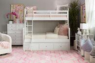 Legacy Tara White Twin Over Full Storage Bunk Bed