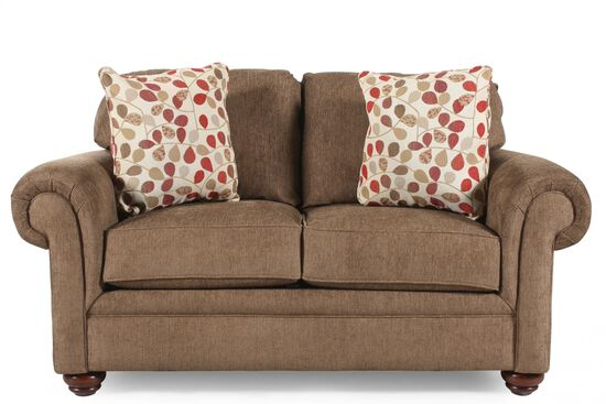 Traditional Loveseat in Chestnut Brown