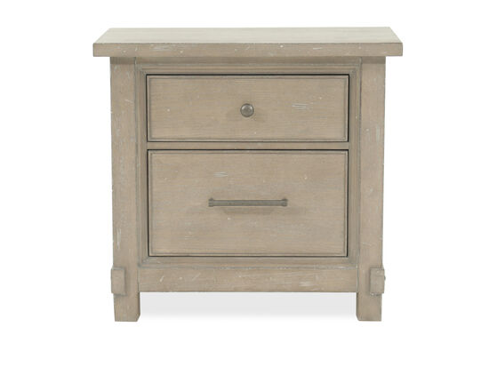 "28"" Traditional Distressed Nightstand in Gray"