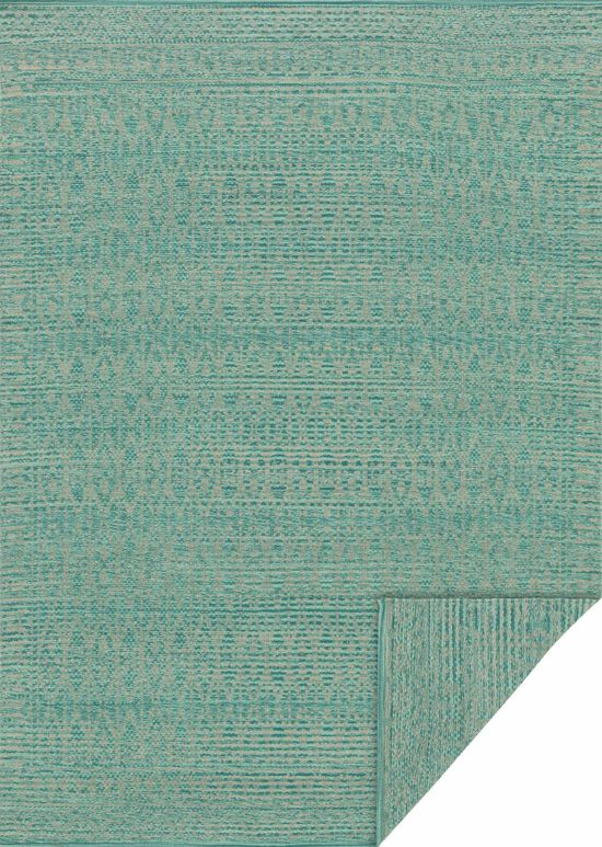 "Transitional 1'-6""x1'-6"" Square Rug in Turquiose/Dove"