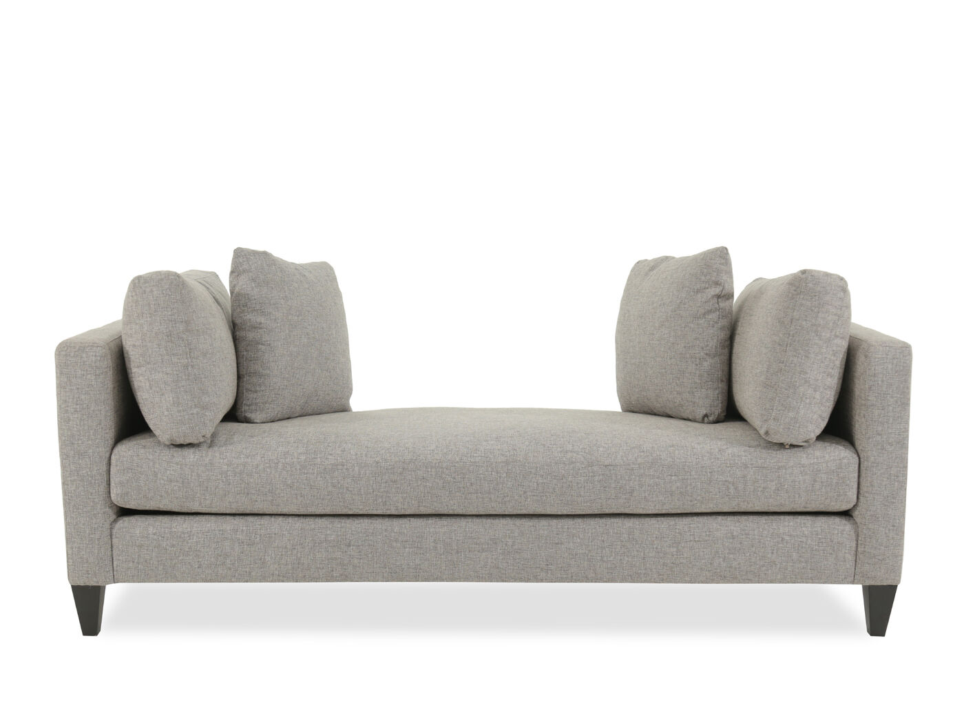 Contemporary Chaise In Warm Gray Mathis Brothers Furniture ~ Contemporary Chaise Sofa