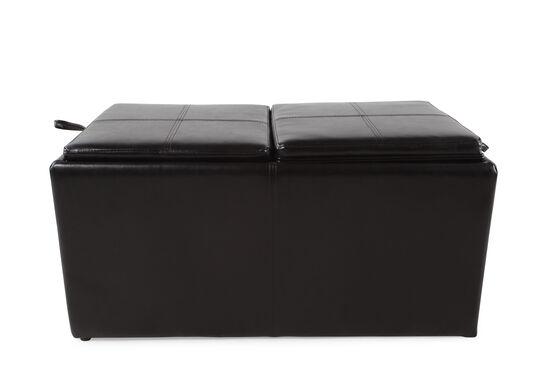 """Contemporary 38"""" Storage Ottoman in Black"""