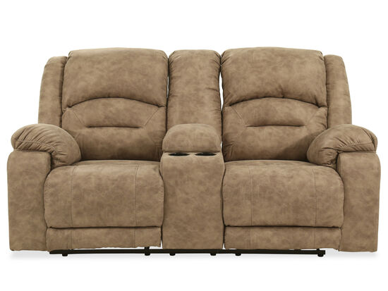 Contemporary 89'' Power Reclining Loveseat in Graystone
