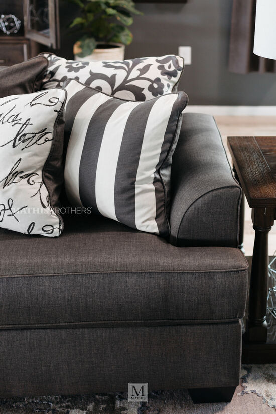 """Contemporary 69"""" Loveseat in Charcoal"""