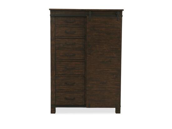 "66"" Transitional Hanging Door Chest in Rustic Pine"