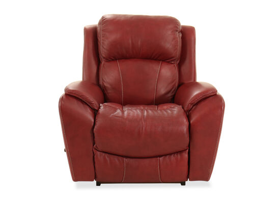"Traditional 40"" Rocker Recliner in Fire Red"