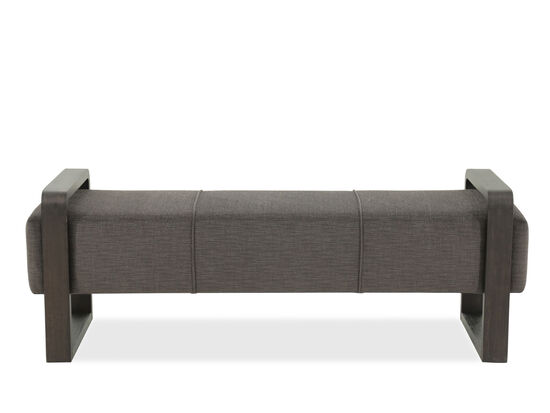 "Contemporary 60"" Square Leg Bench in Gray"