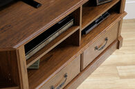 MB Home Presidency Milled Cherry Corner Entertainment Credenza