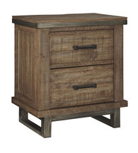 Ashley Dondie Warm Brown Two Drawer Nightstand
