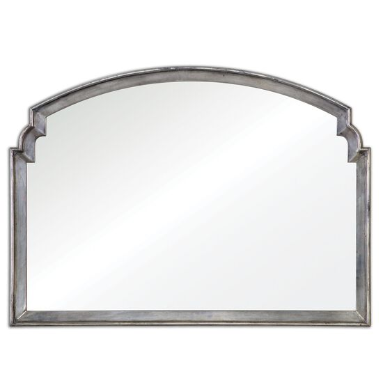 29'' Arch Accent Mirror in Antiqued Silver Leaf