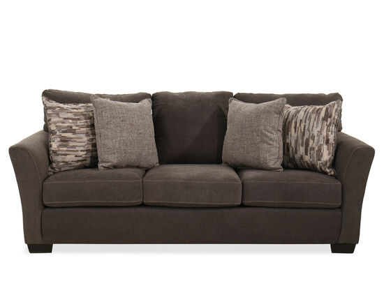 """88"""" Transitional Sofa in Gray"""