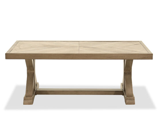 Casual Rectangular Cocktail Table in Beige