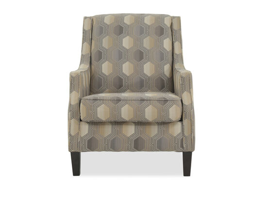 "Geometric Patterned Contemporary 30.5"" Accent Chair"