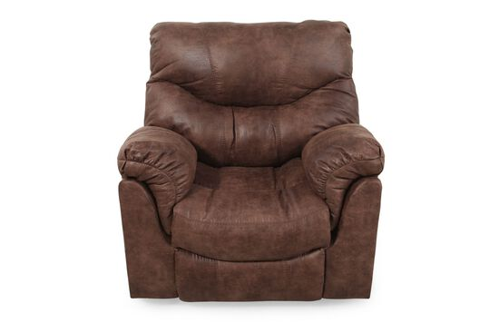 "Contemporary 43"" Rocker Recliner in Brown"