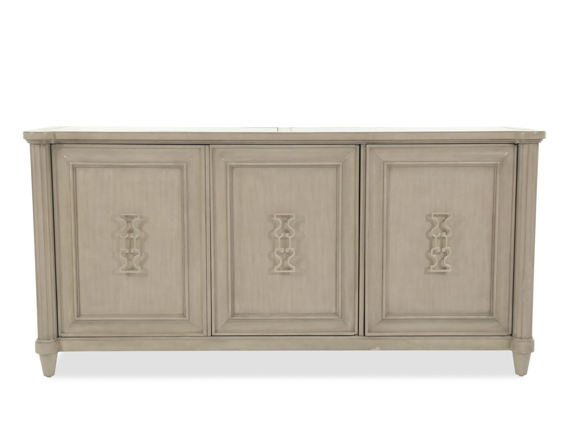 Exceptional 60u0026quot; Three Cabinet Credenza In Brown