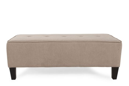 "Tufted Casual 49"" Ottoman in Quartz Brown"