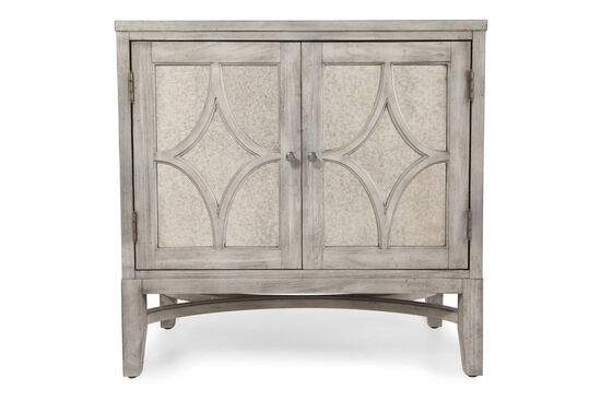 34'' Two-Door Transitional Chest in Slate Gray
