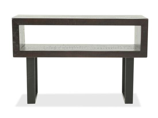Rectangular Mid-Century Modern Sofa Table in Brown