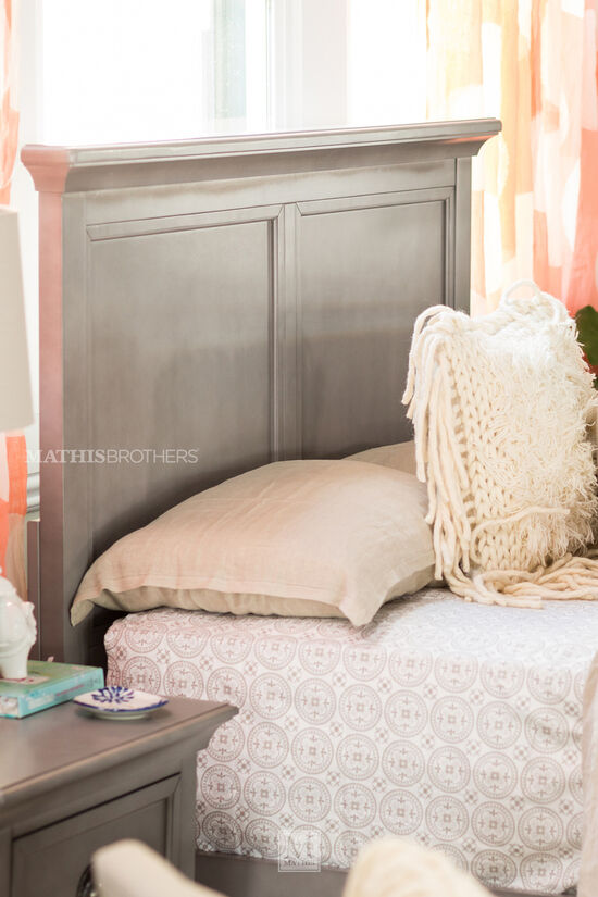 Contemporary Youth Panel Bed with USB Port in Gray