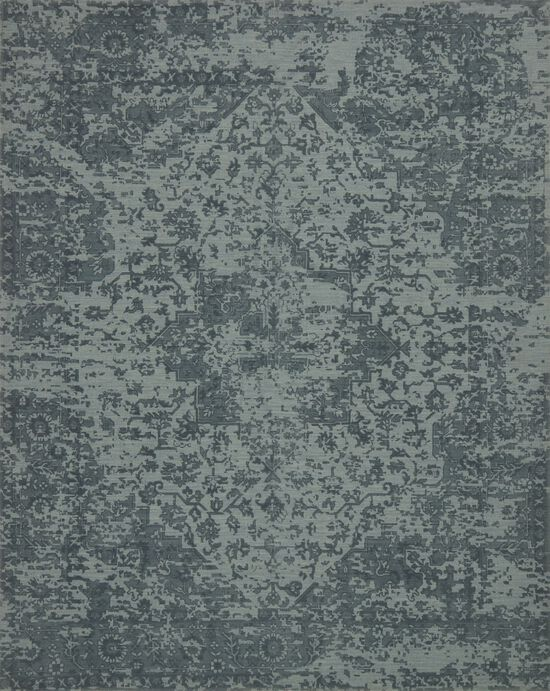 """Traditional 2'-6""""x7'-6"""" Rug in Teal"""