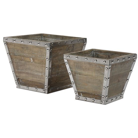 Two-Piece Riveted Containers in Gray