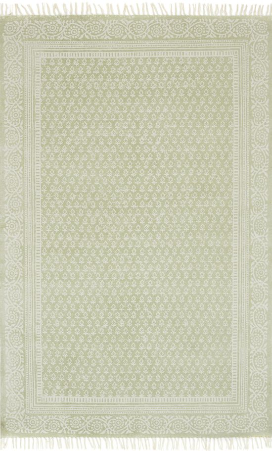 """Transitional 1'-6""""x1'-6"""" Square Rug in Sage"""