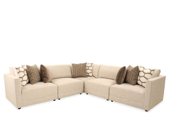 Five-Piece Casual Sectional in Beige