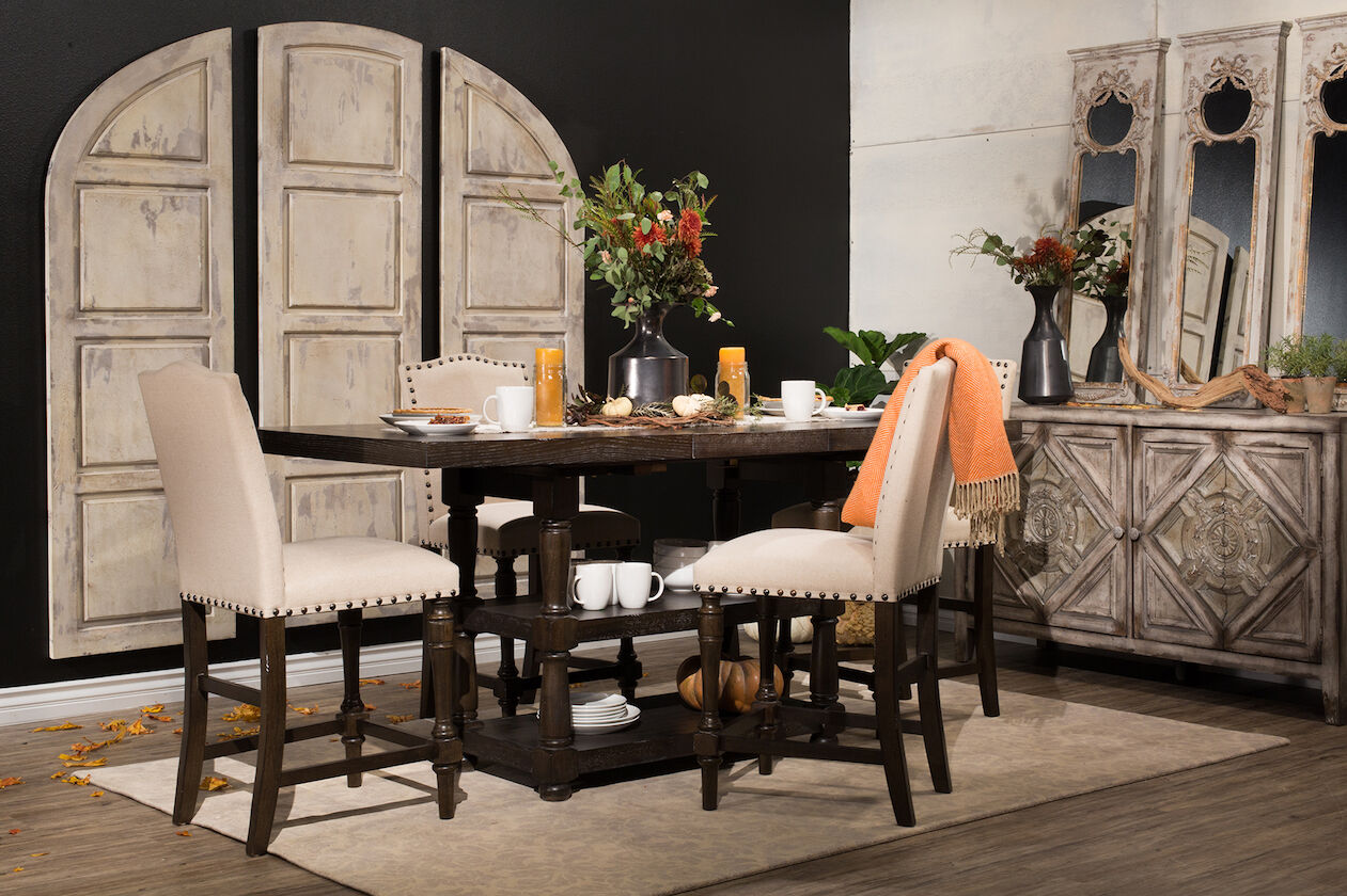 Traditional 60 To 78 Tall Dining Table