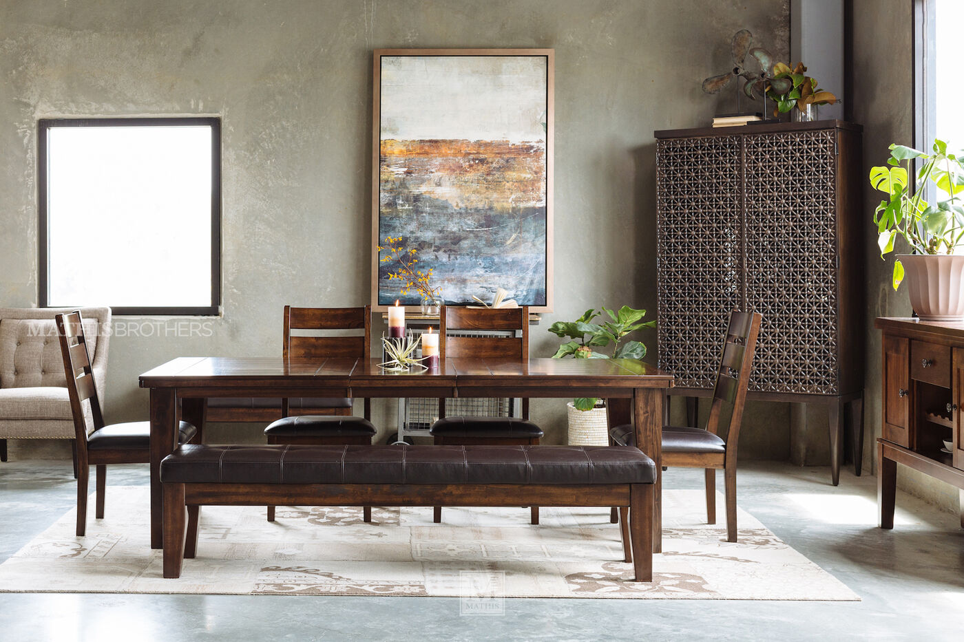 Ashley 72 90 Rectangle Extension Dining Table in Burnished Dark