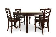 "Five-Piece Traditional 36"" Pub Set in Rich Espresso"