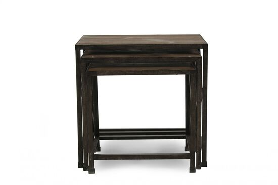 X-Braced Casual Nesting End Tables in Natural Pine